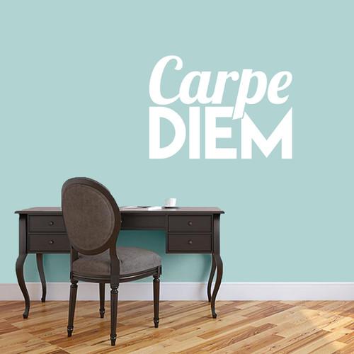 "Carpe Diem Wall Decal 36"" wide x 326"" tall Sample Image"