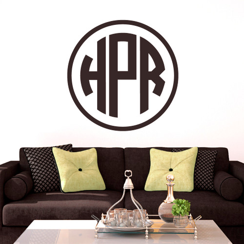 Circle Monogram Wall Decals and Stickers