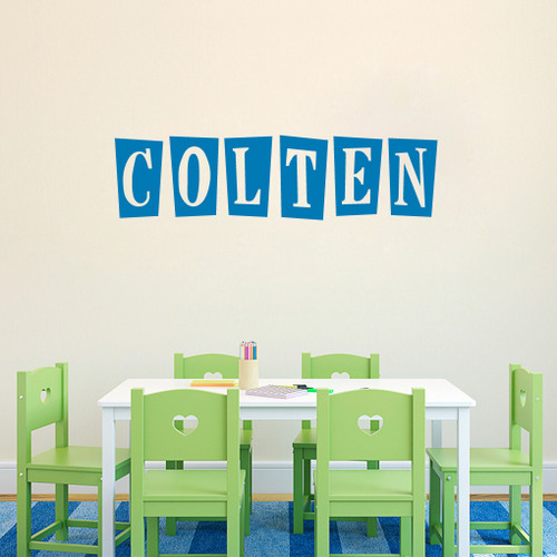 Custom Funky Block Name Wall Decals and Stickers