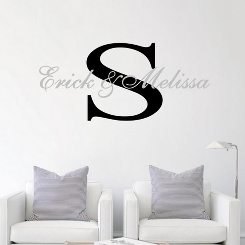 Custom Names With Monogram  Wall Decals and Stickers