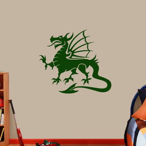 "Dragon Mascot Wall Decals 36"" wide x 32"" tall Sample Image"