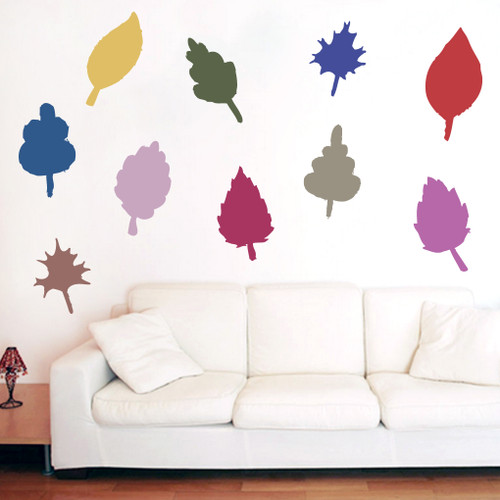 Fall Leaves Printed Wall Decals and Stickers