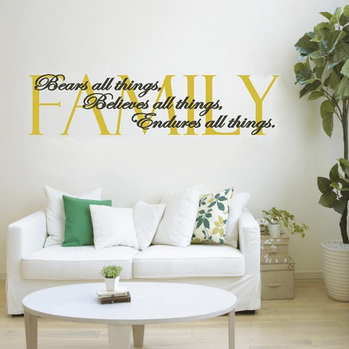 Family Bears All Things Wall Decals and Stickers