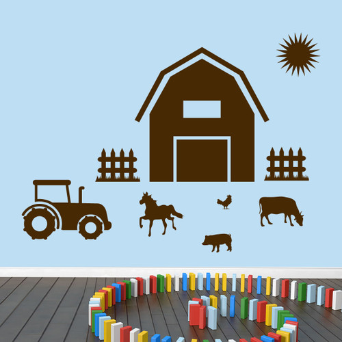 Farm Wall Decals Large Sample Image