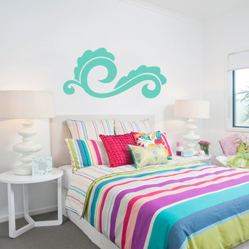 Modern Leaf Flourish Wall Decals and Stickers