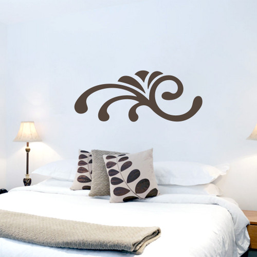 Sprouting Shell Flourish Wall Decals and Stickers