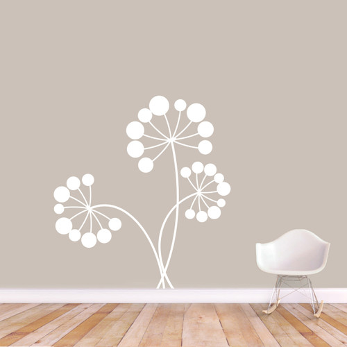 """Dandelion Seeds and Stems Wall Decal 44"""" wide x 48"""" tall Sample Image"""