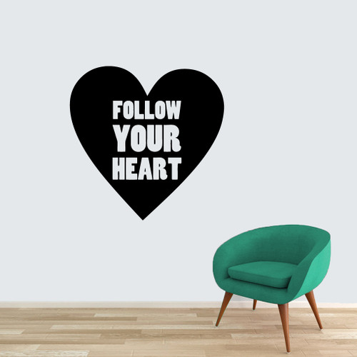 "Follow Your Heart Wall Decals 48"" wide x 48"" tall Sample Image"