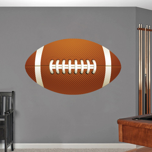 """Football Printed Wall Decals 36"""" wide x 20"""" tall Sample Image"""