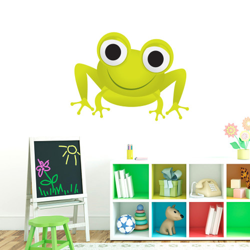 "Frog Printed Wall Decals 36"" wide x 27"" tall Sample Image"