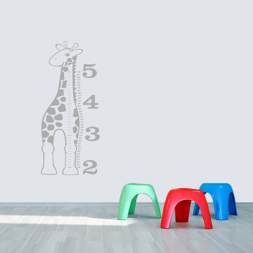 Giraffe Growth Chart Wall Decals Sample Image