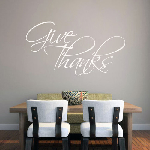 Give Thanks Wall Decals Wall Stickers