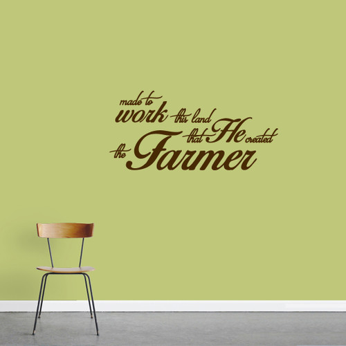 "The Farmer Wall Decals 36"" wide x 17"" tall Sample Image"