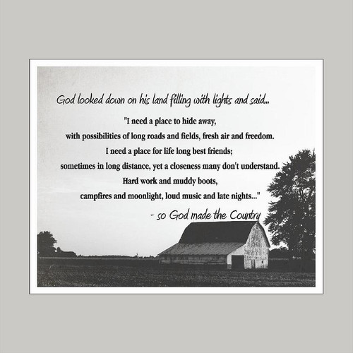 God Made the Country - Art Print Wall Art and Wall Decal Prints
