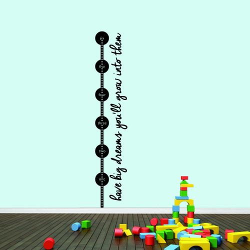 Have Big Dreams Growth Chart Wall Decals Sample Image