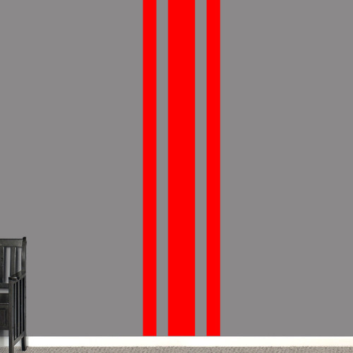"""Sport Stripe Wall Decals 22"""" wide x 96"""" tall Sample Image"""