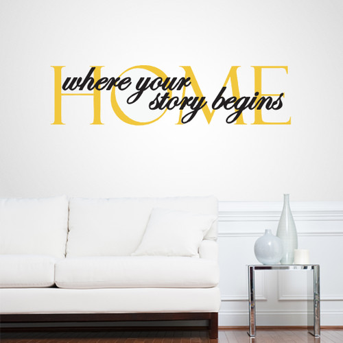 Home Where Your Story Begins Wall Decals Wall Stickers Part 62