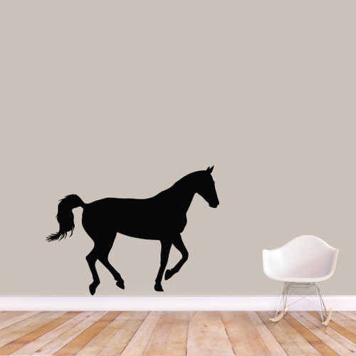 "Horse Silhouette Wall Decals 48"" wide x 36"" tall Sample Image"
