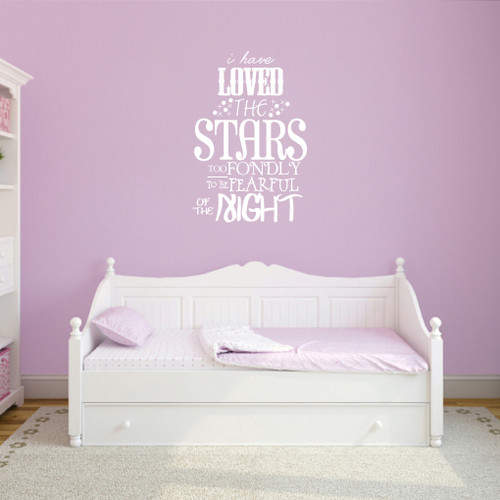 """I Have Loved The Stars Too Fondly Wall Decals 24"""" wide x 36"""" tall Sample Image"""