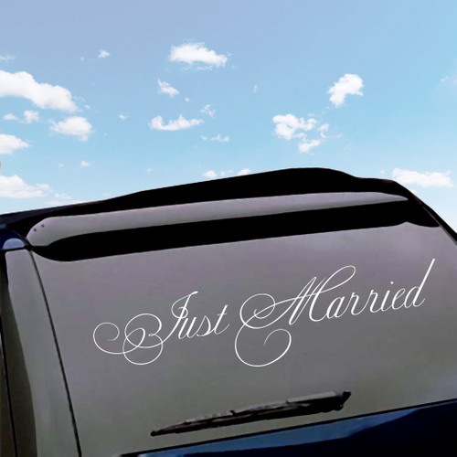 Just Married Wedding Decals Wall Stickers