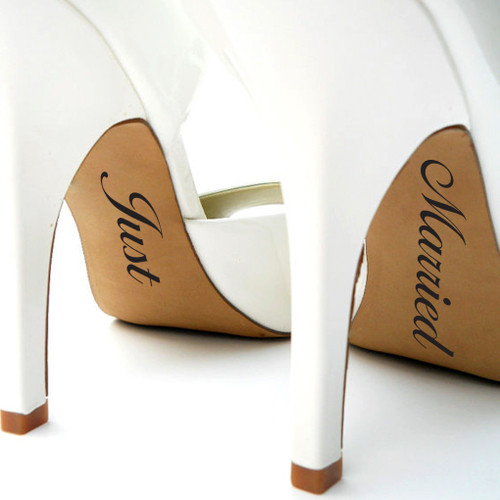 Just Married Shoe Decals Wall Stickers