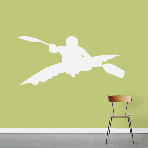 """Kayaker Wall Decal 48"""" wide x 22"""" tall Sample Image"""