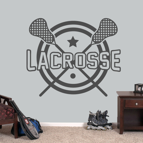 "Lacrosse Wall Decals 48"" wide x 40"" tall Sample Image"