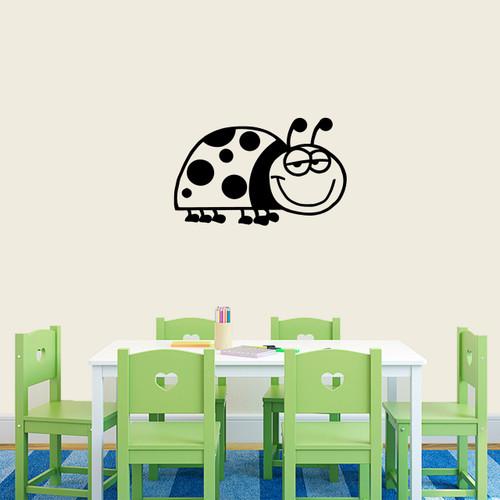 """Ladybug Cartoon Wall Decals 24"""" wide x 15"""" tall Sample Image"""