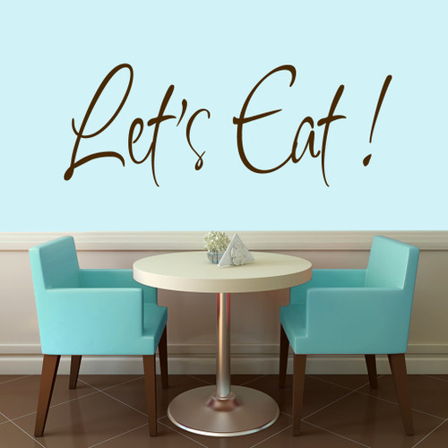 """Let's Eat Wall Decals 48"""" wide x 18"""" tall Sample Image"""