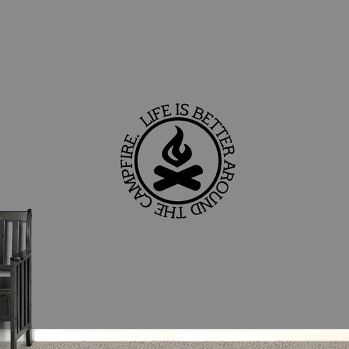 """Around the Campfire Wall Decal 22"""" wide x 22"""" tall Sample Image"""