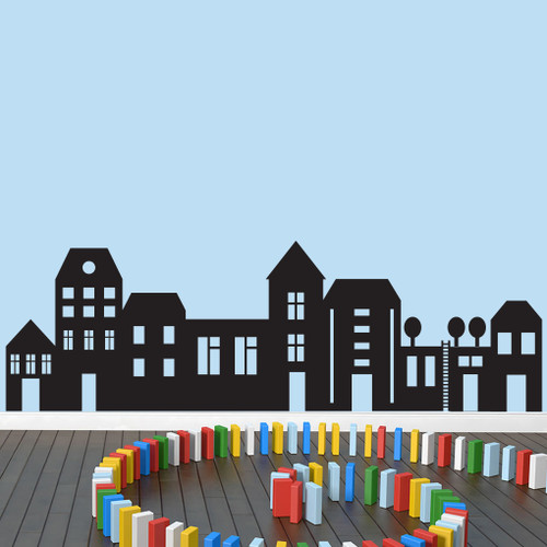 """Little City Wall Decals 69"""" wide x 22"""" tall Sample Image"""