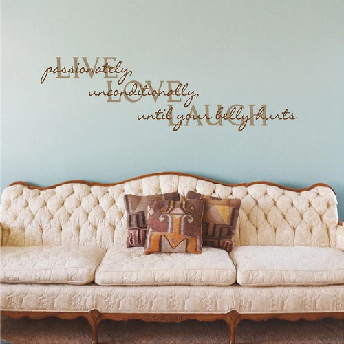 Live Love Laugh Wall Decals and Stickers