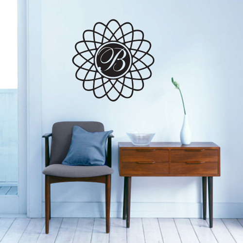 Modern Monogram Wall Decals and Stickers
