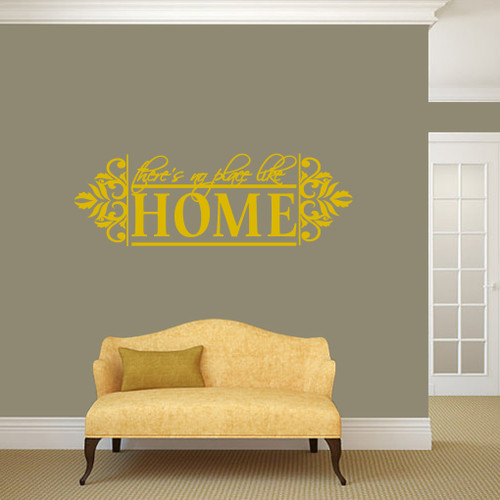 """No Place Like Home Wall Decals 48"""" wide x 16"""" tall Sample Image"""