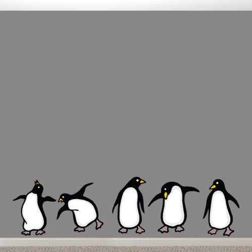 Penguins Printed Wall Decals Large Sample Image