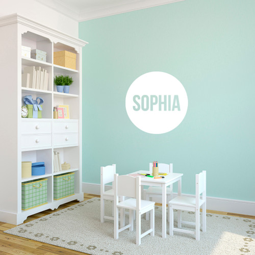 Personalized Circle Name Wall Decals and Stickers