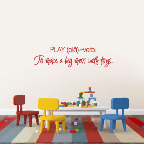 "Play Wall Decals 38"" wide x 10"" tall Sample Image"