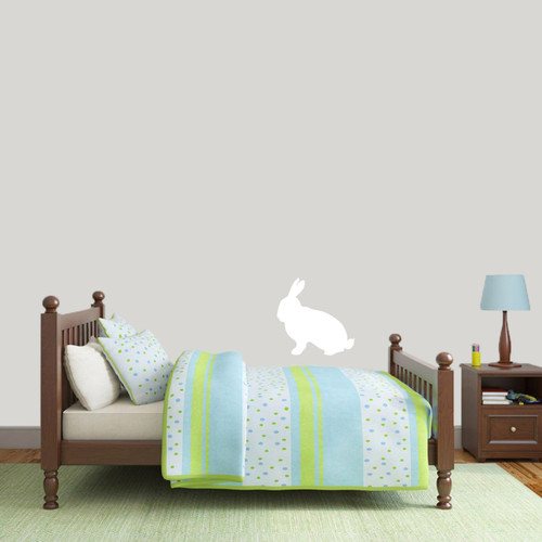 "Rabbit Silhouette Wall Decals 12"" wide x 12"" tall Sample Image"