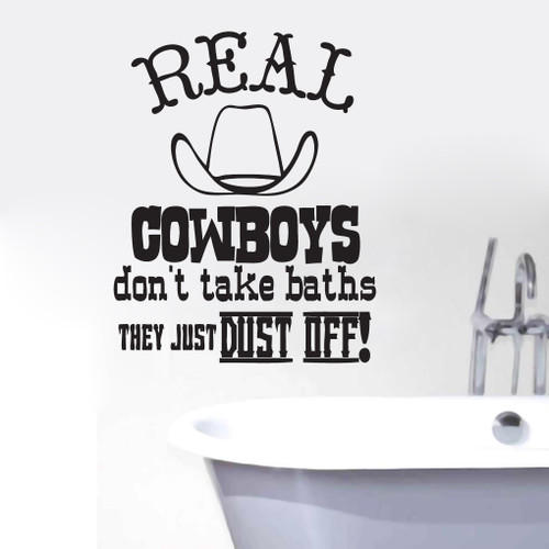 Real Cowboys Dust Off Wall Decals and Wall Stickers