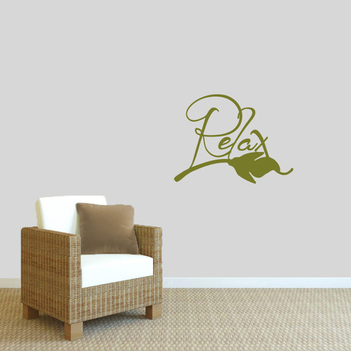 """Relax Wall Decals 24"""" wide x 18"""" tall Sample Image"""