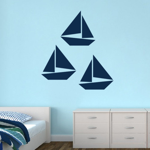 Sailboats Wall Decals Large Sample Image