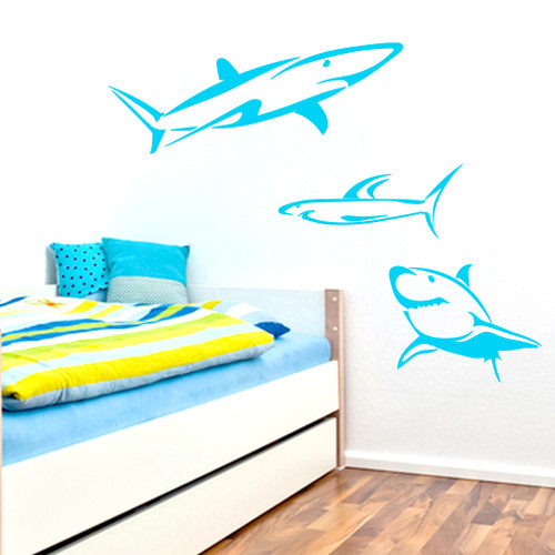 Set Of Sharks Wall Decals and Stickers