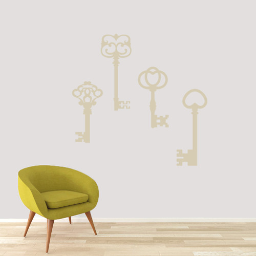 Skeleton Keys Wall Decals Large Sample Image