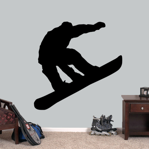 """Snowboarder Wall Decal 48"""" wide x 48"""" tall Sample Image"""