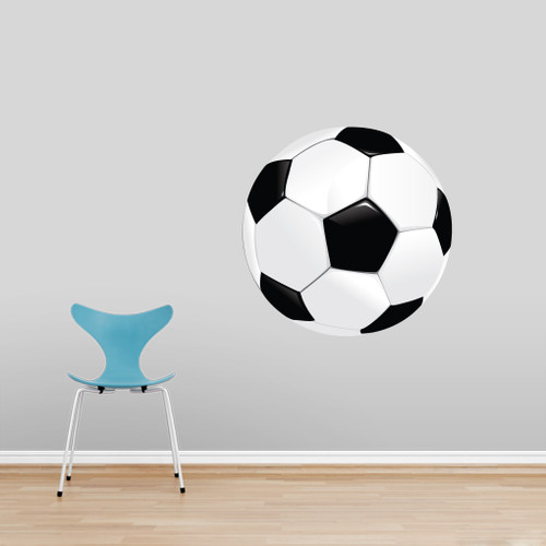 """Soccer Ball Printed Wall Decals 30"""" wide x 30"""" tall Sample Image"""