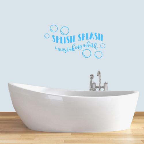 """Splish Splash Wall Decals 36"""" wide x 20"""" tall Sample Image"""