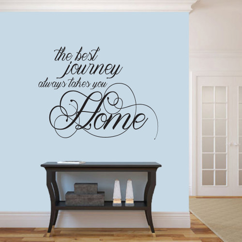 """The Best Journey Wall Decals 36"""" wide x 28"""" tall Sample Image"""