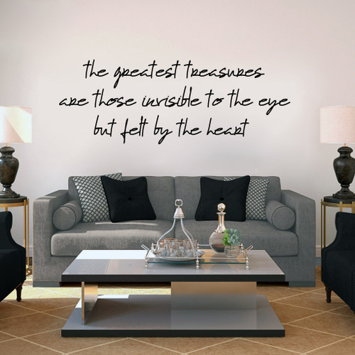 "Greatest Treasures Wall Decals 48"" wide x 18"" tall Sample Image"