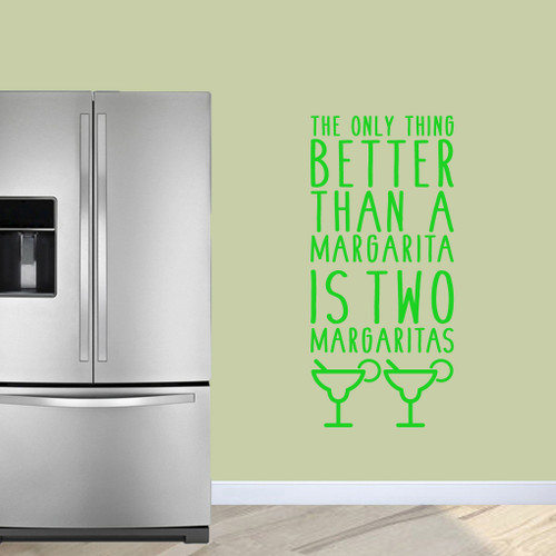 """Two Margaritas Wall Decals 22"""" wide x 48"""" tall Sample Image"""