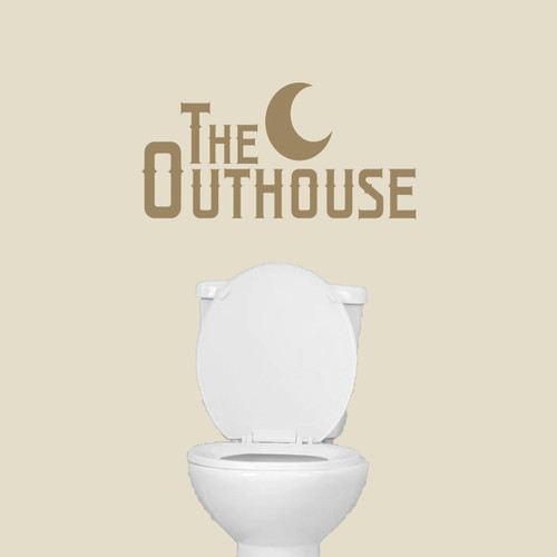 """The Outhouse Wall Decals 24"""" wide x 12"""" tall Sample Image"""